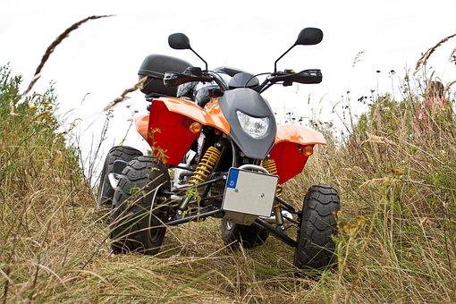 Quad, Landscape, Dry Grass, Outdoors, Race, Motorsport