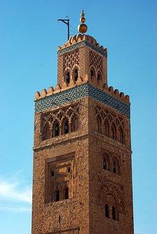 Morocco, Marrakech, Koutoubia, Minaret, Art, Almohades