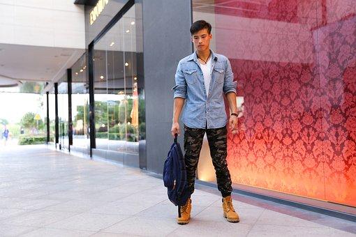 Manhunt, Handbag, Handsome, Male, Model, Street