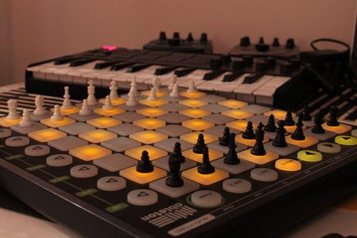 Chess, Game, Synthesizer, Music, Electronics, Sequencer
