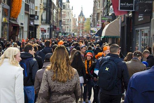 Town, Shoppers, Street Scene, People, Netherlands