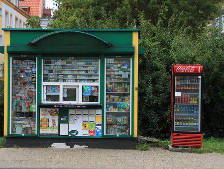 Shopping, Kiosk, Street Vending, Poland