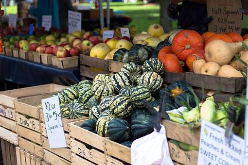 Farmers Market, Squash, Pr, Vegetable, Produce, Harvest