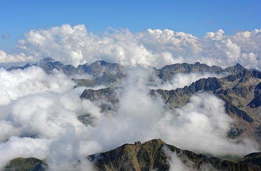 Pyrénées, Mountain, France, Landscape, Summit, Panorama