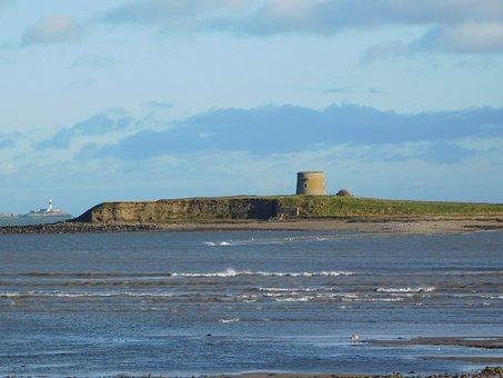 Martello Tower, Shenick Island, Lighthouse, Seascape