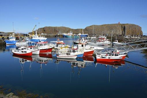Stykkishólmur, Port, Ships, Peninsula Snefelsness
