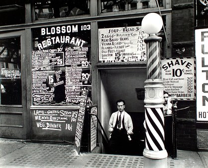 Barber, Shop, Vintage, Retro, Photo, New York