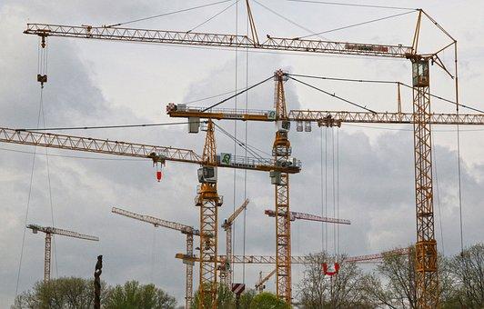 Cranes, Construction Cranes, Site, Construction Site