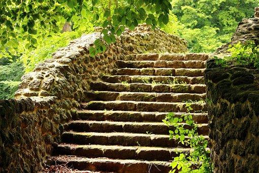 Ruin, Stairs, Rasenerz, Clumping Stone, Lawn Eisenstein