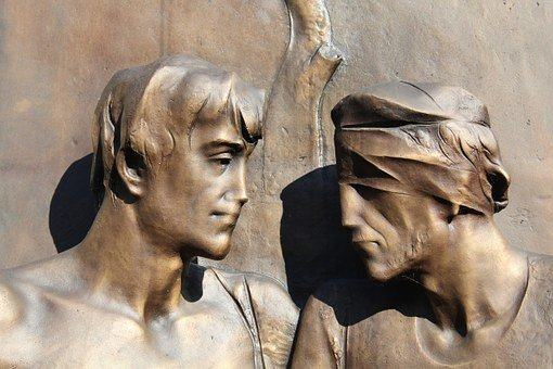 Solidarity, Help, Statue, Blind, Bronze, Volunteering