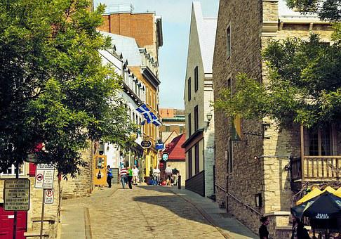 Canada, Quebec, Street, Shops, Grand Street, Lower Town