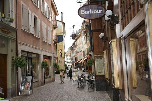 Vevey, Switzerland, Alley, Road, Old Town, Tourism