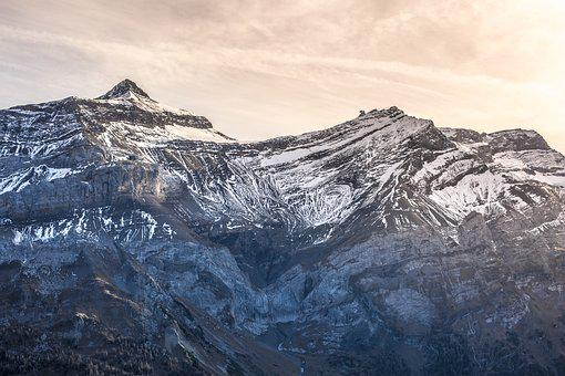 Switzerland, Mountain, Frank Mountain, Snow, Landscape