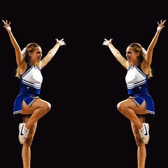 Cheerleaders, Symmetry, Twins, Mirror Image, Girls