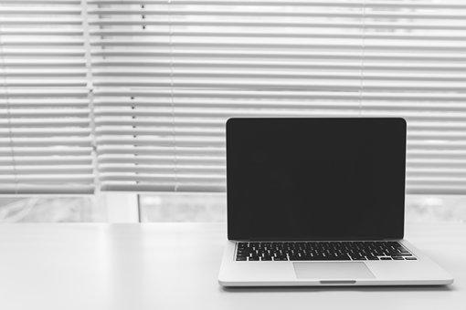 Macbook, Laptop, Computer, Technology, Blinds, Window