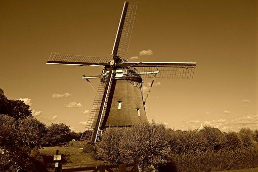 Windmill, Mill, Dutch Windmill, Historic, De Zwaan