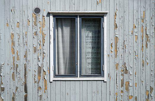 Window, Exfoliation, Paint, The Façade Of The
