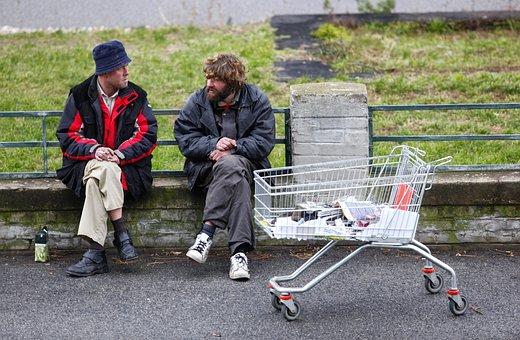 Homeless, Basket, Street, Poverty, Dirt, Wretch