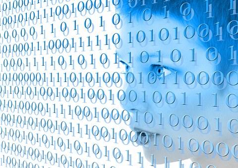 Digital, Zeros, Ones, Woman, Stylish, Internet, Network
