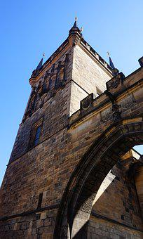 Tower, Prague, Czechia, Gothic, Gate, Architecture, Old
