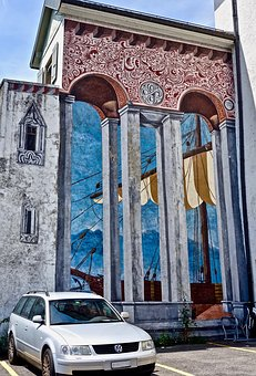 Mural, Decoration, Facade, Art, Painting, Wall