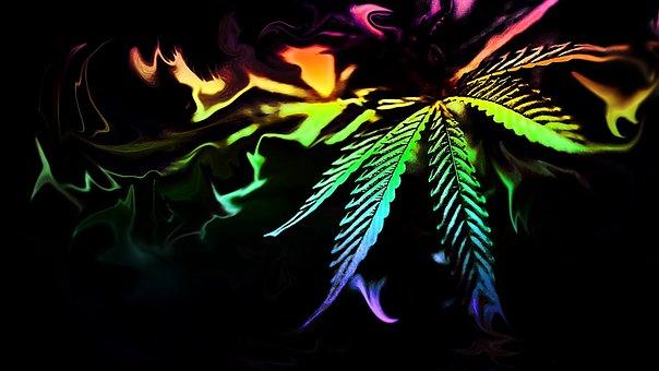 Desktop, Dark, Abstract, Color, Art, Weed, Marijuana