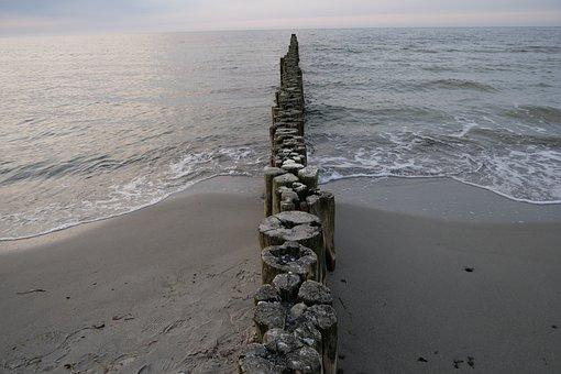 Sea, Groyne, Beach Buhne, Waters, Beach, Coast, Ocean