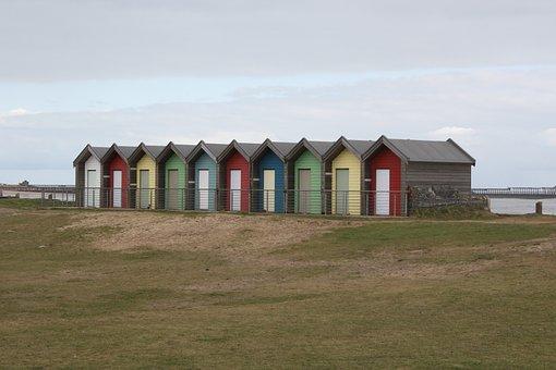 Blyth, Uk, Beach House, Seaside, Outdoors, Sky