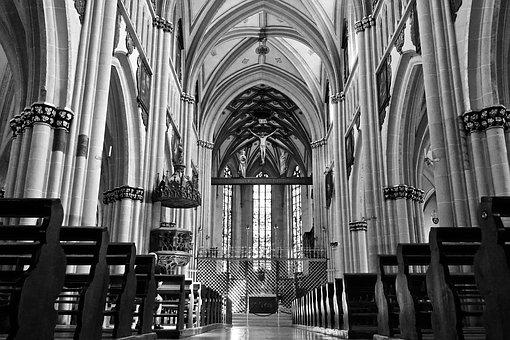 Nave, Church, Cathedral, Religion, Architecture