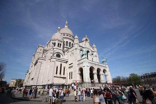 Architecture, Religion, City, Travel, Montmartre, Paris