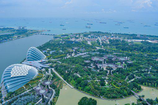 Aerial, City, Travel, Cityscape, Water