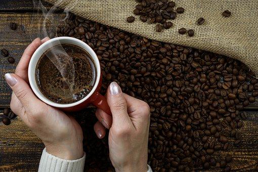 Hot Coffee, Coffee Mug, Woman, Drink, The Drink, Coffee