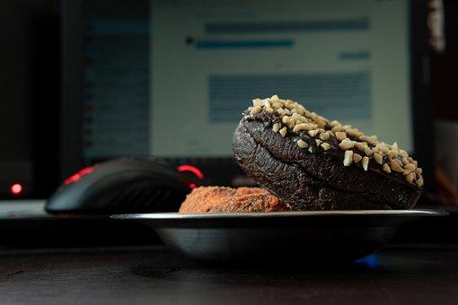 Food, Epicure, Meal, Delicious, Dark, Donut, Doughnut