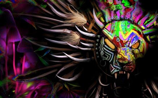 Decoration, Art, Desktop, Abstract, Tribal, Tiger