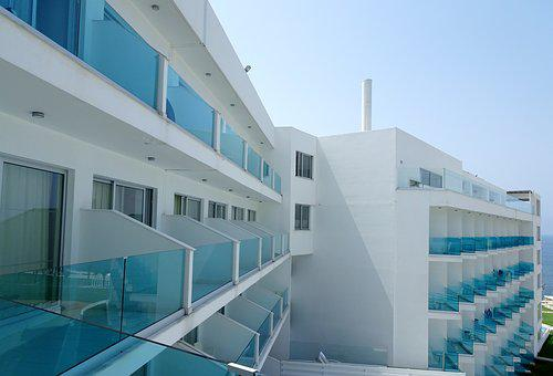 Hotel, Glass, Architecture, Building, Cyprus, Façades