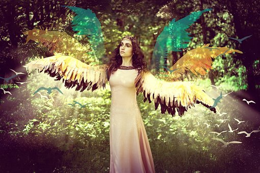 Magic, Fairy, Wings, Mag, Witch, Collage, Nature, Girl