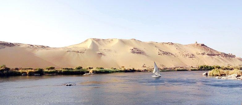 Aswan, Nile, Felucca, Cataract, Body Of Water, Nature