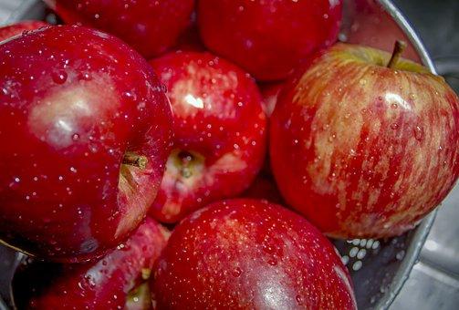Apples, Basket, Fruit, Food, Healthy, Luscious, Dessert