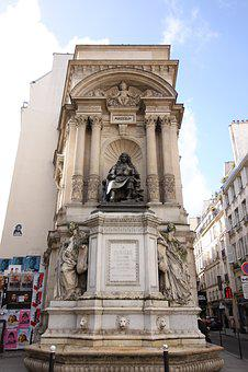 Architecture, City, Travel, Fountain, Statue, Paris