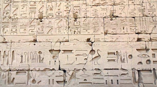 Egypt, Karnak, Hieroglyphs, Writing, Pierre