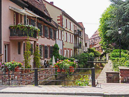 Wissembourg, Alsace, France, Architecture, Home