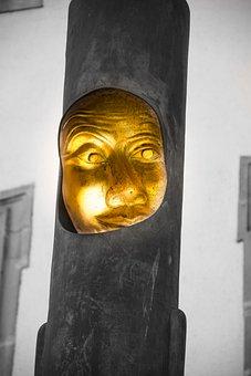 Human, A, Sculpture, Portrait