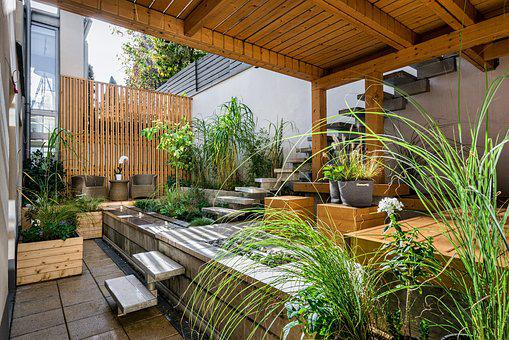 House, Patio, Luxury, Wood, Seat, Outdoors, Backyard