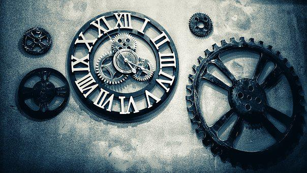 Gear, Mechanism, Precision, Clock, Machine, Clockwork