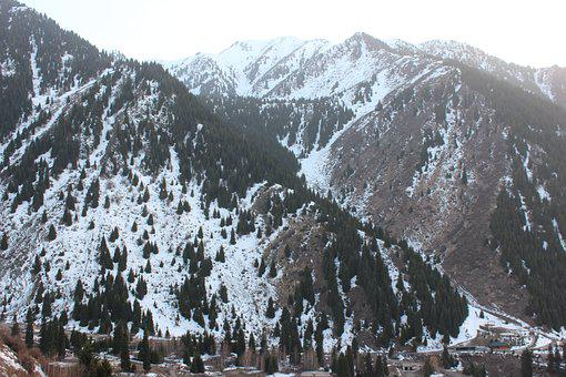 Snow, Mountain, Winter, Nature