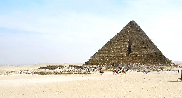 Egypt, Cairo, Giza, Mykerinos, Pyramid, Monument