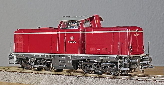 Diesel Locomotive, Model, Scale H0, Deutsche Bundesbahn