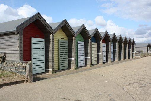 Blyth, Uk, Beach House, Colourful, Seaside, Coast