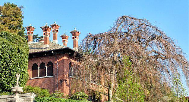 Lake Como, Architecture, Old, Travel, Sky, Tree, Trees