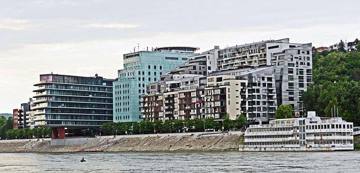 Bratislava, Slovakia, Danube, Bank Of The Danube